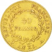 France, Napoléon I, 40 Francs, 1803, Paris, TTB+, Or, KM:652