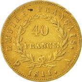 France, Napoléon I, 40 Francs, 1811, Paris, TTB, Or, KM:696.1, Gadoury 1084