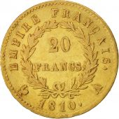 France, Napoléon I, 20 Francs, 1810, Paris, TTB, Or, KM:695.1