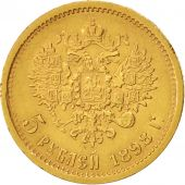 Russia, Nicholas II, 5 Roubles, 1898, St. Petersburg, EF(40-45), Gold, KM:62
