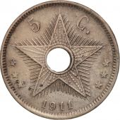 Congo belge, 5 Centimes, 1911, TTB+, Copper-nickel, KM:17