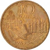 France, Stendhal, 10 Francs, 1983, TTB+, Nickel-Bronze, KM:953, Gadoury 817