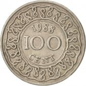 Surinam, 100 Cents, 1988, AU(50-53), Copper-nickel, KM:23