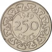 Surinam, 250 Cents, 1989, AU(55-58), Copper-nickel, KM:24
