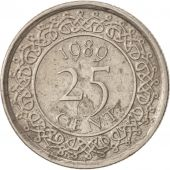 Surinam, 25 Cents, 1989, TTB+, Nickel plated steel, KM:14A