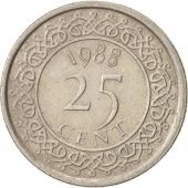 Surinam, 25 Cents, 1988, TTB+, Nickel plated steel, KM:14A