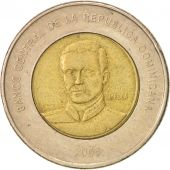 Dominican Republic, 10 Pesos, 2008, TTB+, Bi-Metallic, KM:106
