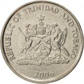 TRINIDAD & TOBAGO, 25 Cents, 2006, AU(50-53), Copper-nickel, KM:32