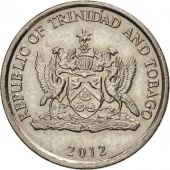 TRINIDAD & TOBAGO, 25 Cents, 2012, AU(50-53), Copper-nickel