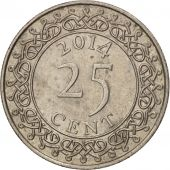 Suriname, 25 Cents, 2014, TTB+, Copper-nickel