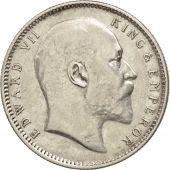 INDIA-BRITISH, Edward VII, Rupee, 1907, AU(50-53), Silver, KM:508