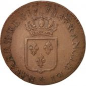 France, Louis XVI, Sol ou sou,1778, Aix, AU(50-53), Copper, KM:578.17