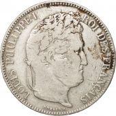 France, Louis-Philippe, 5 Francs, 1835, Lyon, TB+, Argent, KM:749.4, Gad 678