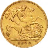 South Africa, George V, 1/2 Sovereign, 1926, AU(55-58), Gold, KM:20