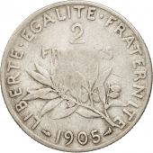 France, Semeuse, 2 Francs, 1905, Paris, VF(20-25), Silver, KM:845.1, Gadoury:532