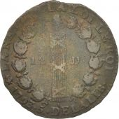 France, 12 deniers françois, 1793, Paris, TB, Bronze, KM:600.1, Gad 15