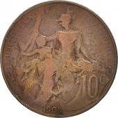 France, Dupuis, 10 Centimes, 1901, Paris, TB, Bronze, KM:843, Gadoury:277