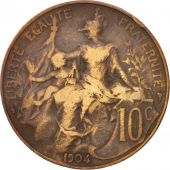 France, Dupuis, 10 Centimes, 1904, Paris, TB, Bronze, KM:843, Gadoury:277
