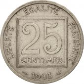 France, Patey, 25 Centimes, 1903, Paris, TTB, Nickel, KM:855, Gadoury:362