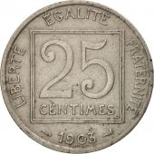 France, Patey, 25 Centimes, 1903, Paris, TB+, Nickel, KM:855, Gadoury:362