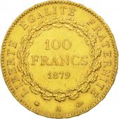 France, Génie, 100 Francs, 1879, Paris, AU(55-58), Gold, KM:832, Gadoury:1137
