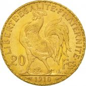 Coin, France, Marianne, 20 Francs, 1910, MS(60-62), Gold, KM:857, Gadoury:1064a