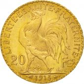 France, Marianne, 20 Francs, 1913, MS(60-62), Gold, KM:857, Gadoury:1064a