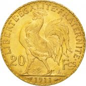 France, Marianne, 20 Francs, 1911, MS(60-62), Gold, KM:857, Gadoury:1064a