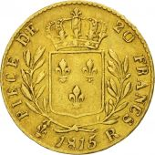 France, 20 Francs, 1815, London, TB+, Or, KM:1, Gadoury:1027