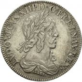 France, Louis XIII, 1/4 Écu 2e poinçon de Warin, 1642,Paris,TTB+,KM 134.1,Gad 48