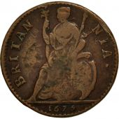 Great Britain, Charles II, Farthing, 1675, VF(30-35), Copper, KM:436.1