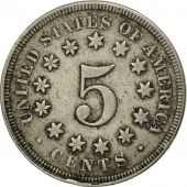 États-Unis, Shield Nickel, 5 Cents, 1867, U.S. Mint, Philadelphia, TB+, KM 97