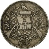 Guatemala, Real, 1901, TTB, Copper-nickel, KM:177
