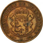 Luxembourg, William III, 2-1/2 Centimes, 1854, Utrecht, TTB, Bronze, KM:21