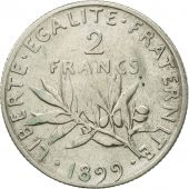 France, Semeuse, 2 Francs, 1899, Paris, VF(30-35), Silver, KM:845.1, Gadoury:532