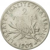 Coin, France, Semeuse, 2 Francs, 1902, Paris, VF(20-25), Silver, KM:845.1