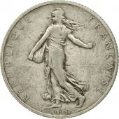 France, Semeuse, 2 Francs, 1909, Paris, VF(30-35), Silver, KM:845.1, Gadoury:532