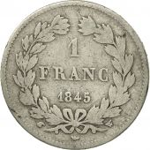 France, Louis-Philippe, Franc, 1845, Lille, F(12-15), Silver, KM:748.13