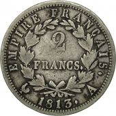 France, Napoléon I, 2 Francs, 1813, Paris, VF(20-25), Silver, KM:693.1