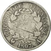France, Napoléon I, 2 Francs, 1807, Paris, F(12-15), Silver, KM:684.1