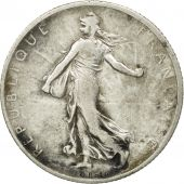 France, Semeuse, 2 Francs, 1908, Paris, VF(30-35), Silver, KM:845.1, Gadoury:532