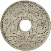 France, Lindauer, 25 Centimes, 1916, TTB, Nickel, KM:867, Gadoury:379