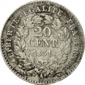 France, Cérès, 20 Centimes, 1851, Paris, EF(40-45), Silver, KM:758.1