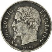France, Napoleon III, 50 Centimes, 1860, Paris, VF(30-35), KM 794.1