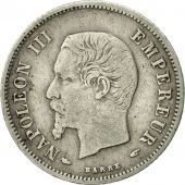 France, Napoleon III, 20 Centimes, 1853, Paris, VF(30-35), KM 778.1