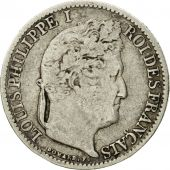 France, Louis-Philippe, 1/2 Franc, 1845, Lille, VF(30-35), Silver, KM:741.13