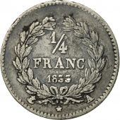 France, Louis-Philippe, 1/4 Franc, 1833, Paris, EF(40-45), Silver, KM:740.1