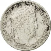 France, Louis-Philippe, 1/4 Franc, 1841, Paris, VF(30-35), Silver, KM:740.1