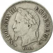 France, Napoleon III, 20 Centimes, 1864, Strasbourg, TB+, Argent,KM 805.2