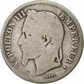 France, Napoleon III, 2 Francs, 1868, Paris, B+, Argent, KM 807.1, Gad 527